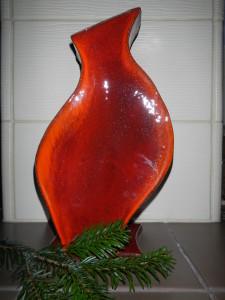 12.Dezember, rote Vase handarbeit